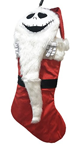Disney Tim Burtons The Nightmare Before Christmas Jack Skellington Hanging Stocking (Red) by The Night Before Christmas-Disney