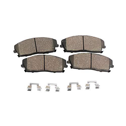 Detroit Axle - Pair FRONT Ceramic Brake Pads w/Hardware for Nissan 240sx Sentra Kia Magentis/Optima