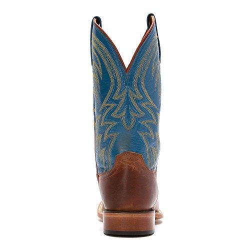 Lucchese Uomo Artigianali 1883 Alan Stivali Da Cowboy Liscia Punta Quadrata - M2662 Cognac