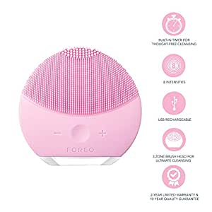 FOREO Luna Mini 2 Facial Cleansing Brush, USB Rechargeable, Pearl Pink, 204g