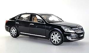 Hyundai Equus, negro , Modelo de Auto, modello completo, Minikraft 1:18