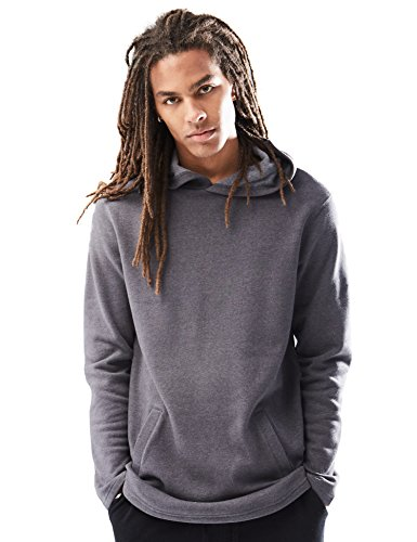 Jumper Heather - Rebel Canyon Young Men's Long Sleeve Longline Pullover Hoodie Sweatshirt X-Large Dark Grey Heather