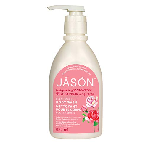 JASON Invigorating Rosewater Body Wash, 30 oz. (Packaging May Vary)