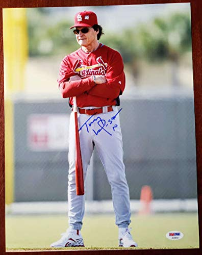 TONY LARUSSA PSA DNA COA Autograph Cardinals 11x14 Photo Hand Signed Authentic