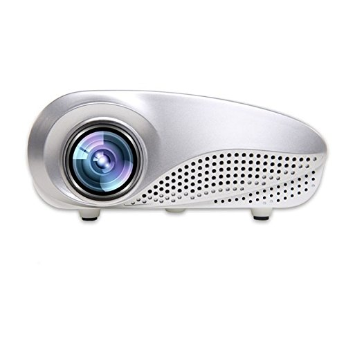 Sinfu Mini Projector Home Multimedia Cinema LED Projector HD 1080P Support AV TV VGA USB HDMI SD (White) by Sinfu