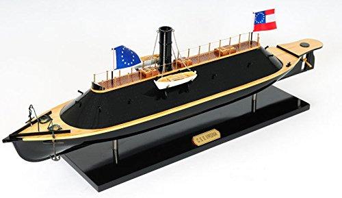 Css Virginia Civil War Ironclad Wooden Ship Scale Model 28