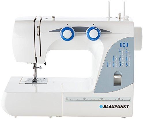 Blaupunkt Casual 845 Freiarm- Nähmaschine mit 26 Nähprogrammen, regelbarer Nähgeschwindigkeit, stufenlos verstellbarer Stichlänge, wartungsfreiem LED- Nählicht für blendfreies Nähen und umfangreichem Zubehör