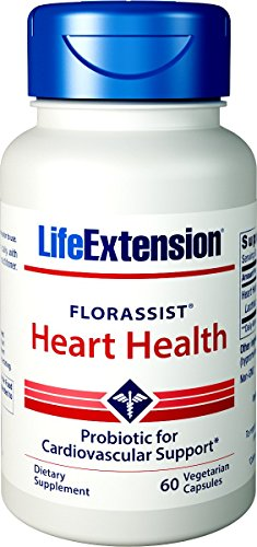 Heart Health Vegetarian Capsules (Life Extension Florassist Heart Health Probiotic, 60 Vegetarian Capsules)