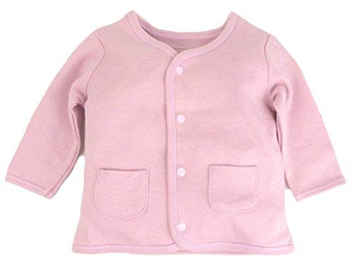 Dordor & Gorgor Organic Baby Cardigan Top, Dye Free, 100% Cotton, 6-9 Months, Pink
