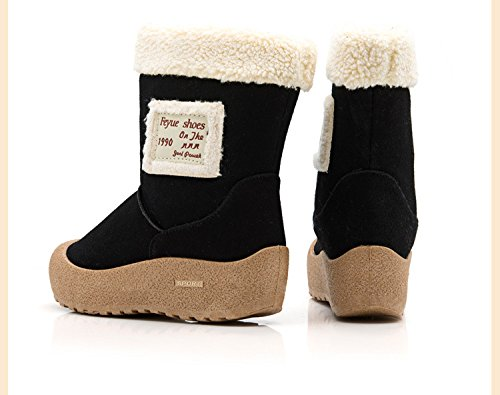 NIce Shoes Womens Suede Fully Fur Lined Snow Boots