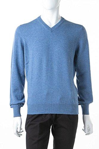 (ブルネロクチネリ) BRUNELLO CUCINELLI セーター ニット ブルー メンズ (M2200162Y) 【並行輸入品】 B07FZF42G3  ブルー 48