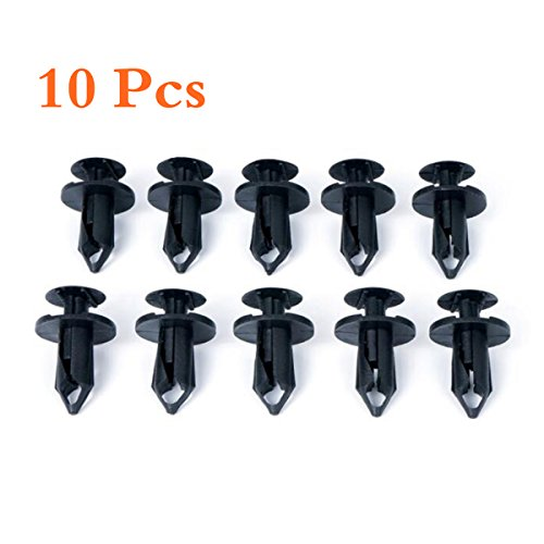 10 Pcs Nylon Fastener Rivet Push Pin Clips Retainer,Bumper Fastener Rivet Clips Automotive Furniture Assembly Expansion Screws Kit Auto Body Clips  for 2007 - 2017 Jeep Wrangler (10 PCS)