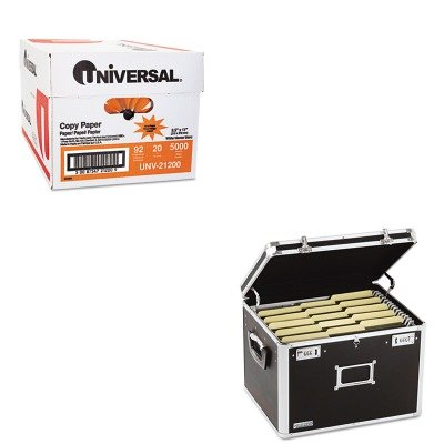 KITIDEVZ01008UNV21200 - Value Kit - Vaultz Locking File Chest Storage Box (IDEVZ01008) and Universal Copy Paper (UNV21200)
