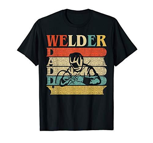 - Retro Vintage Daddy Welder T-Shirt Dad/Father's Day Gift