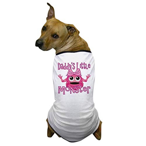 CafePress Girl Daddys Little Monster Dog T Shirt Dog T-Shirt, Pet Clothing, Funny Dog Costume ()