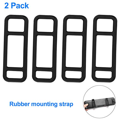 Mirror Band - Mirror Dash Cam Rubber Mounting Strap- Fit for TOGUARD, jinyue, YI, CHICOM, Jeemak, Official HD, isYoung and Most Other Mirror Dash Cam (2 Pack)