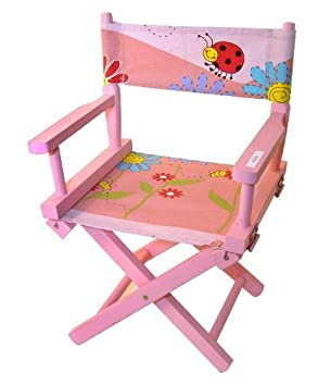 Folding Wooden Kids Directors Chair   Pink (DC203)