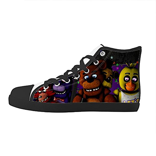 TD^^MM Custom TV show five nights at freddy's Kids Canvas Shoes Lace-up High-top Footwear Slip-on Shoes