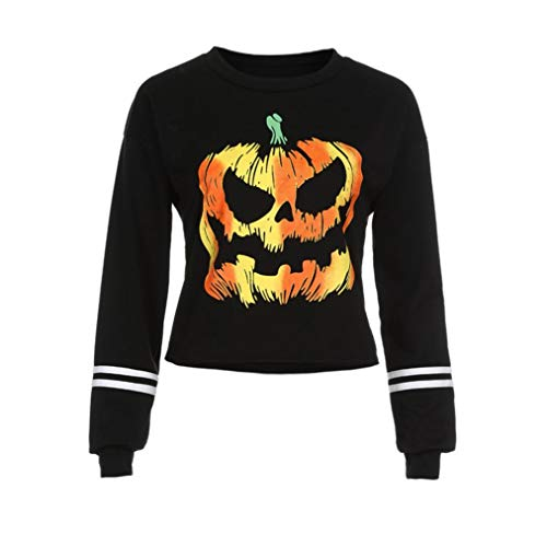 DongDong 2018 Women's Casual Sweatshirt, Halloween Print Round Neck Long Sleeve Tops
