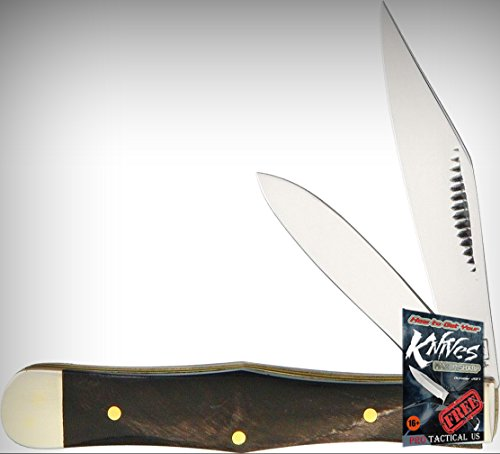 Frost Cutlery FMBS085CBH Coke Bottle Folding Limited Elite Knife Buffalo Horn Handle Folder + free eBook by ProTactical'US