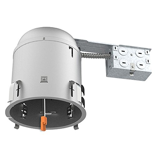 Four Bros Lighting - 6'' inch Remodel LED Can Air Tight IC Housing LED Recessed Lighting - UL Listed and Title 24 Certified (Remodel, 1 Pack) by Four Bros Lighting