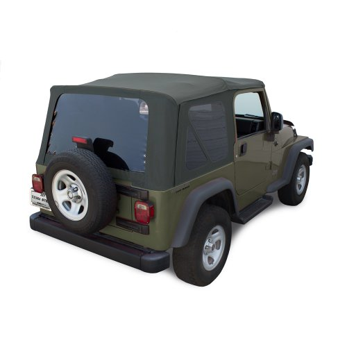 (Sierra Offroad TJ 2003-06 Factory Style Soft Top with Tinted Windows in Khaki Diamond. (except)
