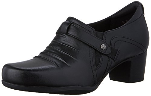 Clarks Women's Rosalyn Nicole Slip-On Loafer, Black Leather, 8 M US Nicole Shoes Com