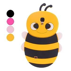 TY- Diseño 3D caso suave del patrón de la abeja por Samsung Galaxy S4 i9500 (colores surtidos)