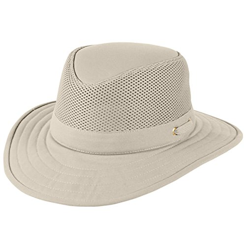 Tilley TM10B Flat Top Cotton Mesh Hat - Khaki w/ Olive Underbrim - 7 3/4