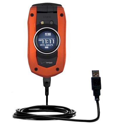Classic Straight USB Cable for the Verizon Wireless G'zOne Boulder with Power Hot Sync and Charge Capabilities - Uses Gomadic TipExchange Technology ()