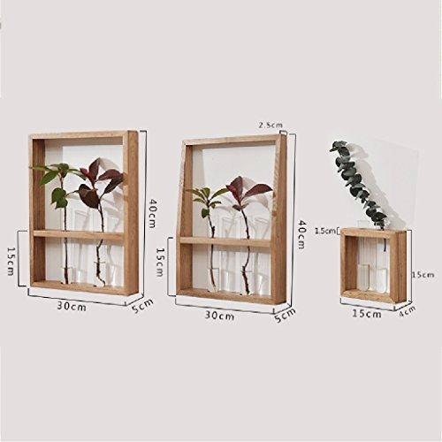 PM-Borders Wood Shelf Wall Mount Assembling Wall shelf Floating Shelf TV Wall Decorative Frame (DIY assembly&Load 10KG) (Size : B) by PM-Borders (Image #4)