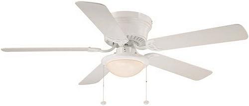 Hugger 52 in. LED White Ceiling Fan-AL383LED-WH