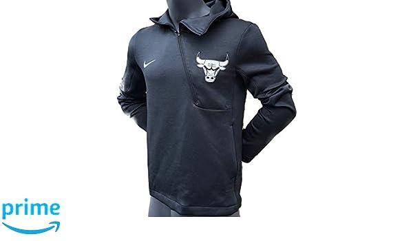 4380993a Amazon.com : Nike Men's Dry-Fit NBA Chicago Bulls Therma Flex Half Zip  Hoodie (Black Pine, Large) : Sports & Outdoors