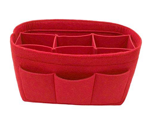 LEXSION Felt Handbag Organizer,Insert purse organizer Fits Speedy Neverfull Red M by LEXSION (Image #3)