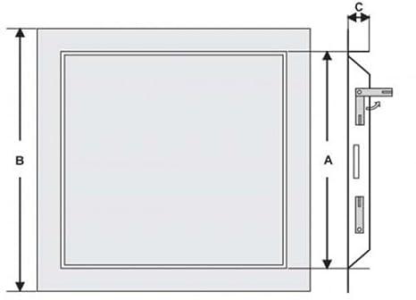 wei/ß Schnappverschluss Domodul /® Revisionsklappe Revisionst/ür Stahl Einbauma/ß Breite x H/öhe:600 x 600 mm Druckverschluss