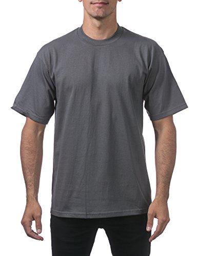 Pro Club Men's Heavyweight Cotton Short Sleeve Crew Neck T-Shirt, Medium, Graphite