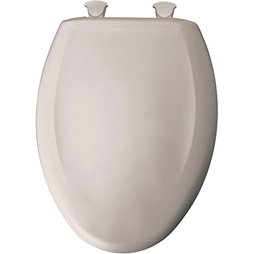 Elongated Closed Front Plastic Toilet Seat with Cover, Easy Clean, - Heather Front