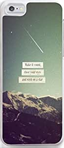 Case for Iphone,Dseason Iphone 5C Hard Case **NEW** High Quality Unique Design christian quotes make it count,close your eyes and wish on a star by icecream design
