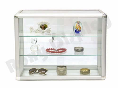 (SC-KDTOP) COUNTER TOP GLASS CASE, Standard Aluminum Framing With Sliding Glass Door And Lock