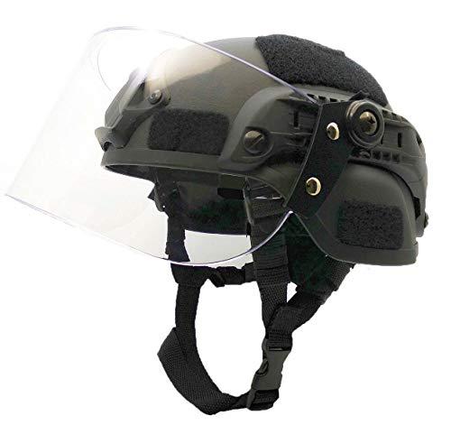 Airsoft MICH 2000 ACH Casque tactique avec visière transparente et rail latéral 1