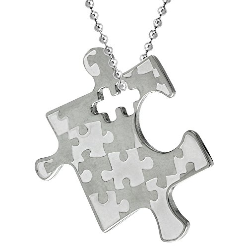 Stainless Autism Awareness Puzzle Pendant