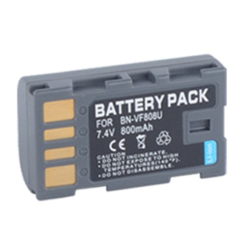 Battery (2-Pack) and Charger for JVC Everio GZ-MG130U, GZ-MG230U, GZ-MG330U Camcorder