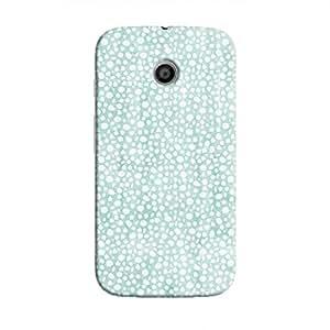 Cover It Up - Blue Pebbles Mosaic Moto E Hard Case