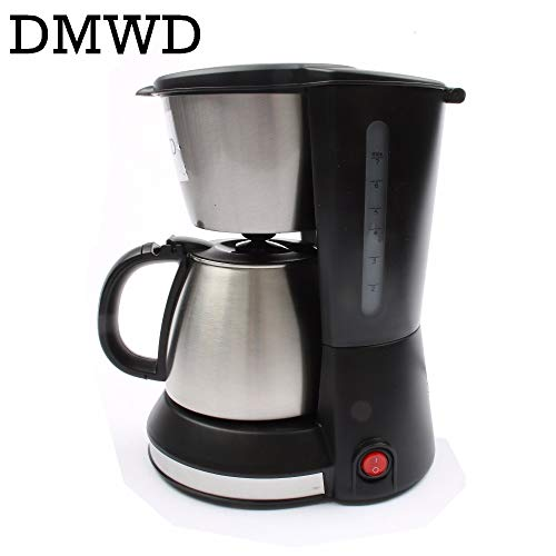 DMWD Automatic Electric Espresso Coffee Maker Cafe Drip American Coffee Machine Latte Household Mini Stainless Steel Teapot 0.7L by DMWD