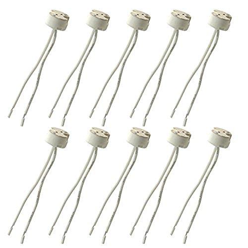Wire Connector Socket for MR16 MR11 Halogen LED Light Lamp Bulb Retrofit Hot Halogen Holder Lamp Ceramic (10pcs)