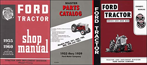 1955-1957 Ford 600/800 Series Tractor 3 Manual Reprint Set