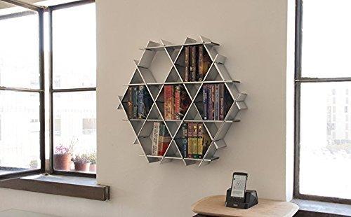 Hexagon Floating Shelves, Hanging Bookshelf, Living Room Storage, Pocket  Bookshelf   Cardboard Shelving