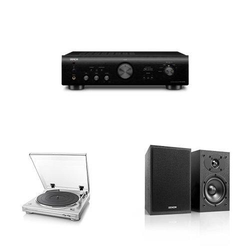 DENON アナログレコード エントリーセット ブラック/シルバー/ブラック  [PMA-390 + DP-29F + SC-M41]   B076DZTCVP