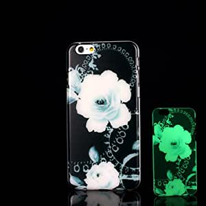 HJZ Flowers Pattern Glow in the Dark Case for iPhone 6 Cover