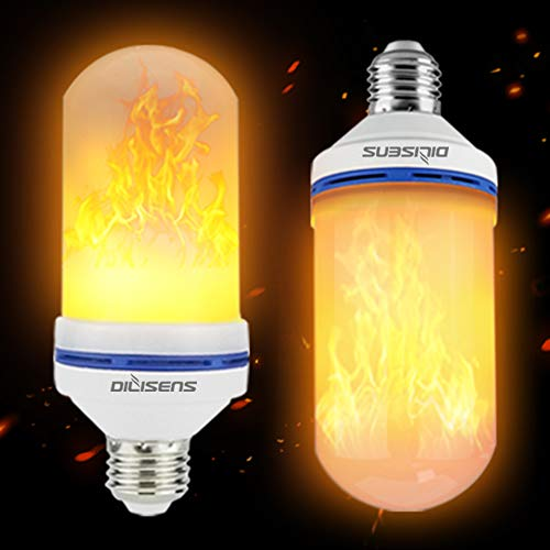 DILISENS LED Flame Effect Light Bulbs-Newest Upgraded 4 Modes Flickering Fire Simulated Lamps-for Halloween/Christmas Decoration/Home/Festival Small 2 Count